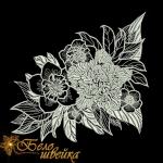 """Дизайн для машинной вышивки """"Вlack flowers"""""""