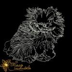 """Дизайн машинной вышивки """"Котёнок строчкой"""""""