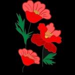 Дизайн для машинной вышивки «Маки»