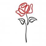 """""""Роза"""" машинная вышивка, бесплатный дизайн"""