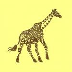 Дизайн для машинной вышивки «Жираф»