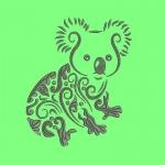 Дизайн для машинной вышивки «Коала»