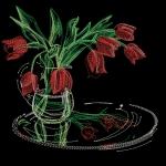 Тюльпаны - дизайн для машинной вышивки