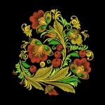 Дизайн для машинной вышивки «Хохлома»