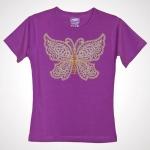Дизайн для машинной вышивки «Бабочка»