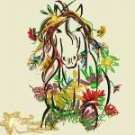 Тетя Лошадь - дизайн для вышивальной машины