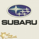 Логотип SUBARU машинная вышивка