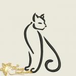 """Бесплатный дизайн машинной вышивки """"Кошка"""""""