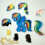 Дизайн магнитной куклы My little pony Радуга