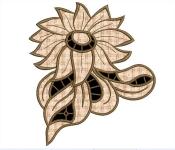 Дизайн для машинной вышивки «Георгин»