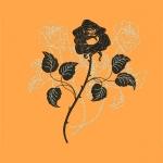 Дизайн для машинной вышивки «Black rose»