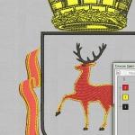 герб нижнего новгорода. дизайн вышивки интернет-магазин дизайнов машинной вышивки Ната Белошвейка