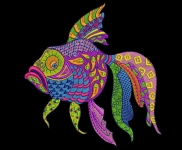 """Рыба"" - дизайн для вышивания"