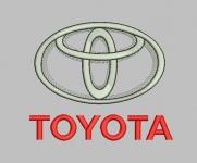 Дизайн для машинной вышивки «Toyota»