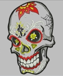 дизайн для вышивания «happy skull» интернет-магазин дизайнов машинной вышивки Iren Main
