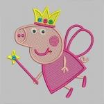 Дизайн для машинной вышивки «Свинка Пеппа»