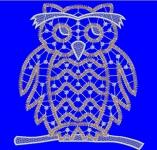 кружевная сова - файл для вышивания интернет-магазин дизайнов машинной вышивки Iren Main