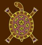Дизайн для машинной вышивки «Этно-черепаха»