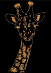 Машинная вышивка «Жираф»