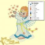 """дизайн компьютерной вышивки """"ангелочек"""" интернет-магазин дизайнов машинной вышивки Ната Белошвейка"""