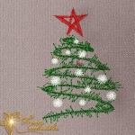"""""""новогодняя ёлка"""" дизайн для машинной вышивки интернет-магазин дизайнов машинной вышивки Ната Белошвейка"""