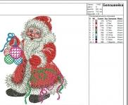 дед мороз новогодний дизайн для машинной вышивки интернет-магазин дизайнов машинной вышивки Ната Белошвейка