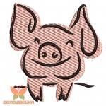 """""""Свинюшка"""" дизайн машинной вышивки"""