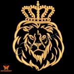 """Компьютерная вышивка """"Лев в короне"""""""