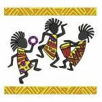 Дизайн для машинной вышивки «Веселые кокопелли»