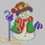 """""""снеговик"""" новогодний дизайн крестиком для машинной вышивки интернет-магазин дизайнов машинной вышивки Мария Казачок"""