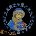 """""""снегурочка"""" дизайн машинным крестиком интернет-магазин дизайнов машинной вышивки Мария Казачок"""