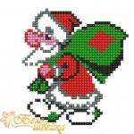 """""""Дед мороз с мешком"""" дизайн для вышивания"""