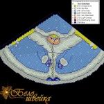 """игрушка на ёлку """"снегурочка"""" интернет-магазин дизайнов машинной вышивки Мария Казачок"""