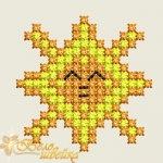 """""""Солнышко"""" дизайн для вышивания, машинный крест"""