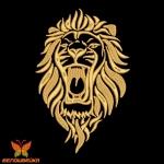 Лев дизайн машинной вышивки