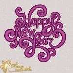 """Happy New Year"" - новогодний дизайн для вышивания"