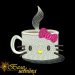 """Hello coffee!"" - дизайн для вышивания"