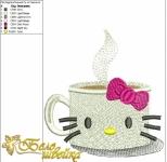 """""""hello coffee!"""" - дизайн для вышивания интернет-магазин дизайнов машинной вышивки Ната Белошвейка"""