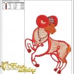 """""""овен"""" - дизайн для машинной вышивки интернет-магазин дизайнов машинной вышивки Ната Белошвейка"""