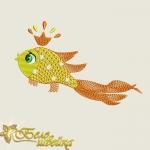 """Дизайн машинной вышивки """"Золотая рыбка"""""""