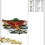 """""""вечный огонь"""" дизайн с машинным крестиком интернет-магазин дизайнов машинной вышивки Ната Белошвейка"""