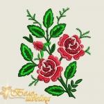 """Дизайн машинной вышивки гладью """"Розы"""""""