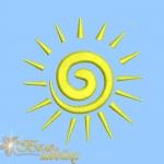 """""""солнышко"""" бесплатный дизайн машинной вышивки интернет-магазин дизайнов машинной вышивки Ната Белошвейка"""