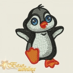 """Детский дизайн машинной вышивки скачать """"Пингвин"""""""