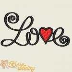 """Дизайн вышивки """"LOVE"""" ко дню влюбленных"""