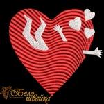 """Дизайн машинной вышивки """"Сердце влюбленного"""""""