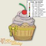 """""""пирожное с бантом"""" дизайн для вышивальной машины интернет-магазин дизайнов машинной вышивки Ната Белошвейка"""