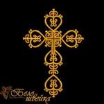 """""""Крестильный крест 2"""" дизайн для вышивальных машин"""