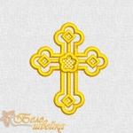 """дизайн машинной вышивки """"крестильный крестик 3"""" интернет-магазин дизайнов машинной вышивки Ната Белошвейка"""