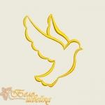 крестильный голубь, дизайн для вышивальной машины интернет-магазин дизайнов машинной вышивки Ната Белошвейка